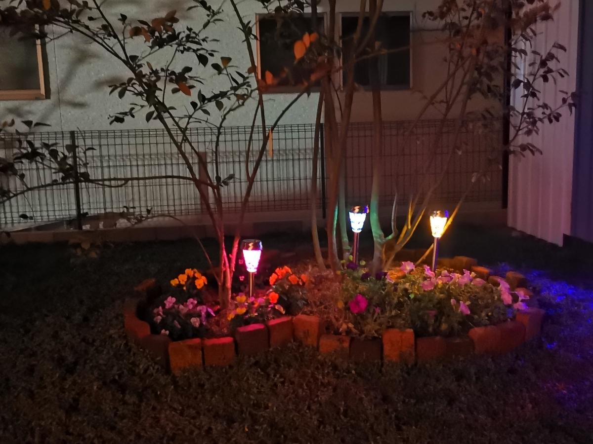ダイソーのお庭用ライトアップ照明