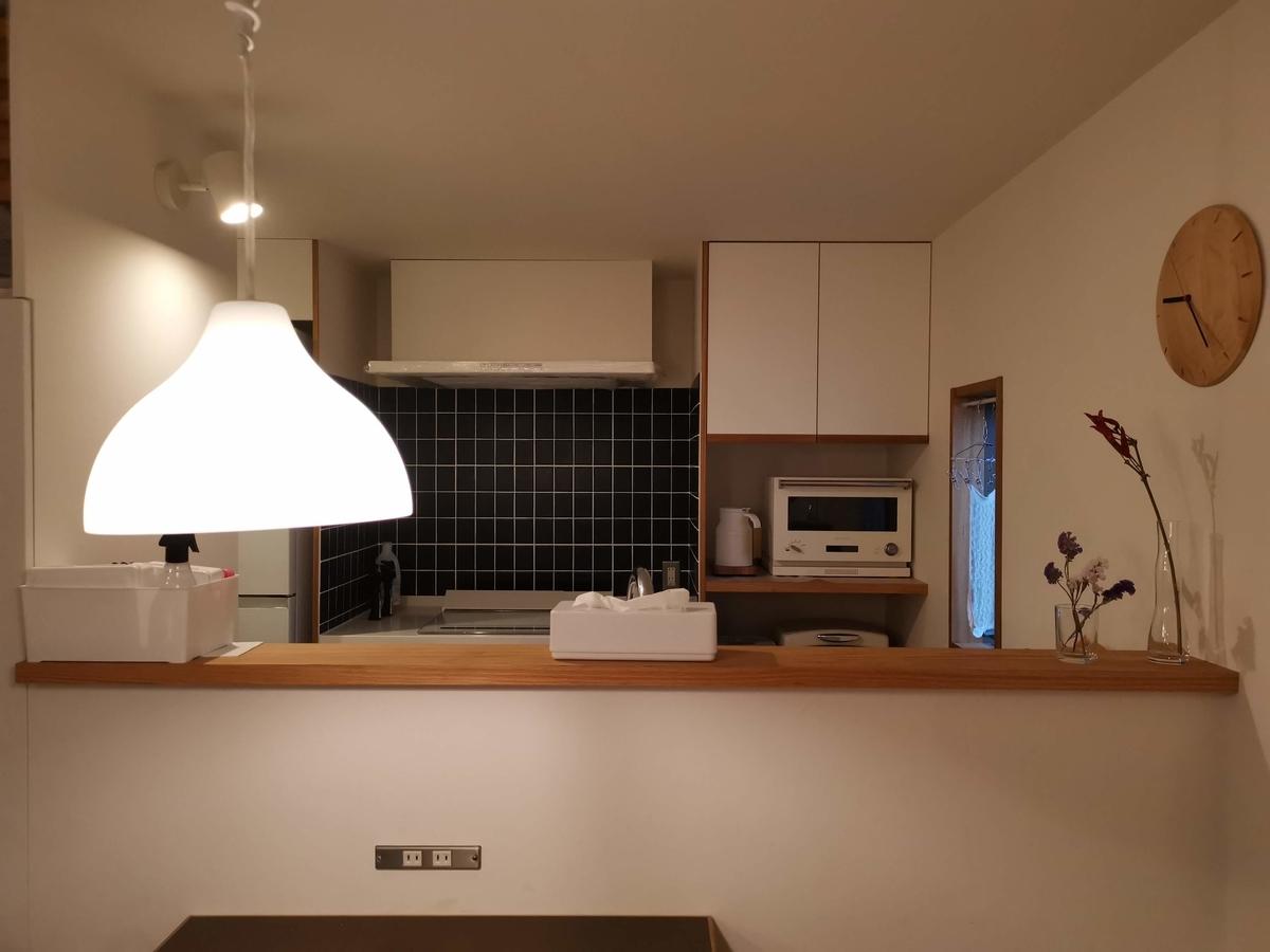 キッチン 自然素材の家