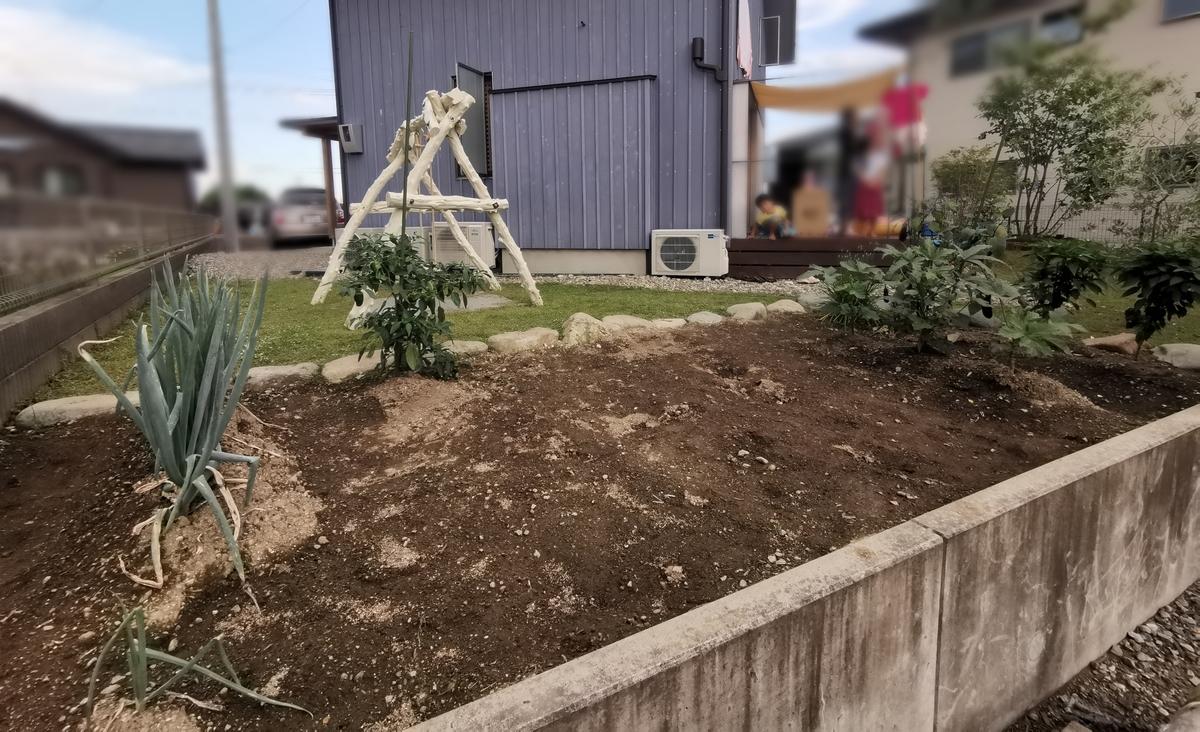 石だらけの家庭菜園
