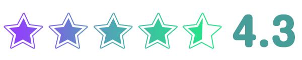 DCMホーマックの星評価4.33