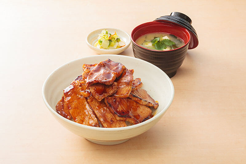 商品の豚丼の写真