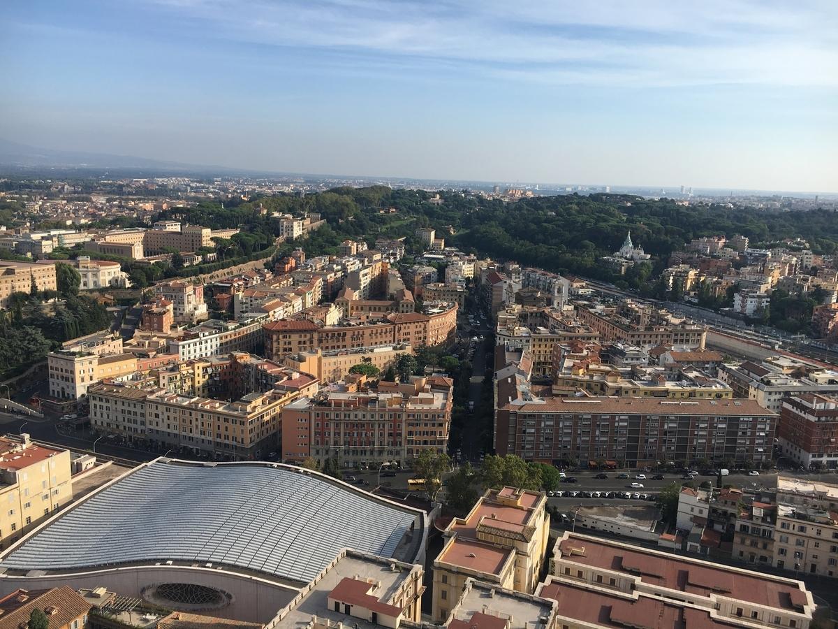 バチカン市国、サン・ピエトロ大聖堂から見たローマの風景