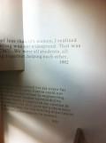 マーガレット・モリソン・カーネギー・ホール 先人の言葉が書き込まれた壁