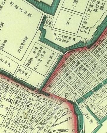 帝国ホテル周辺地図(1892年)