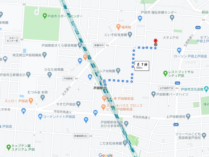 グリーンフォレスト戸田の地図