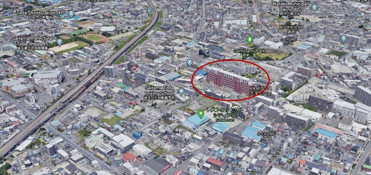 グリーンフォレスト戸田の立体地図