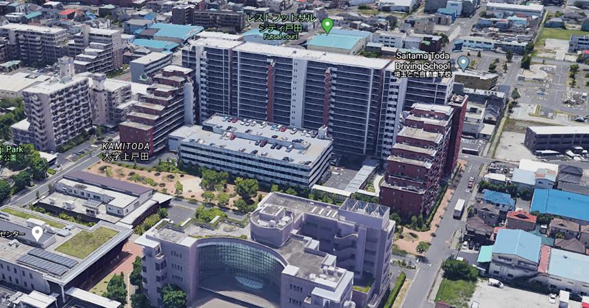 グリーンフォレスト戸田の自走式駐車場