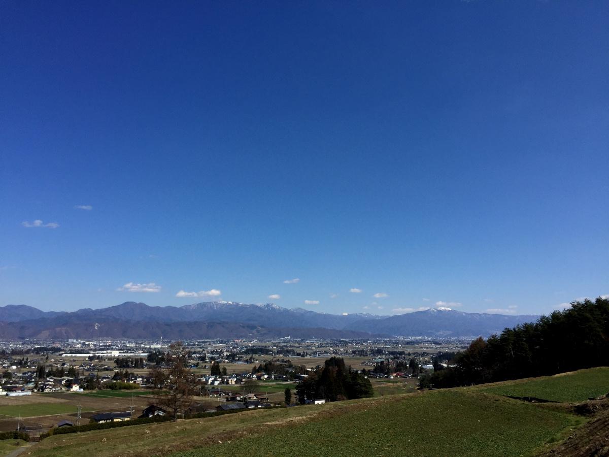 南方面の景色(松本・塩尻方面)