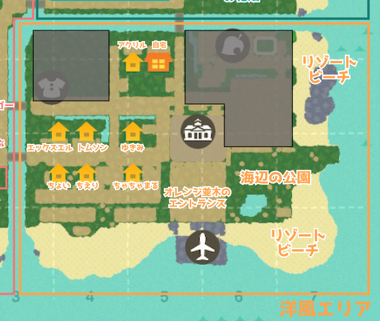 あつ森 地図 住宅街