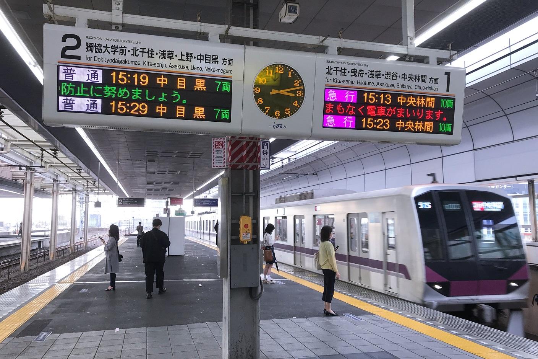 新越谷駅ホーム