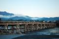 京都新聞写真コンテスト 渡月橋 朝が来た