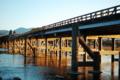 京都新聞写真コンテスト 渡月橋 朝色