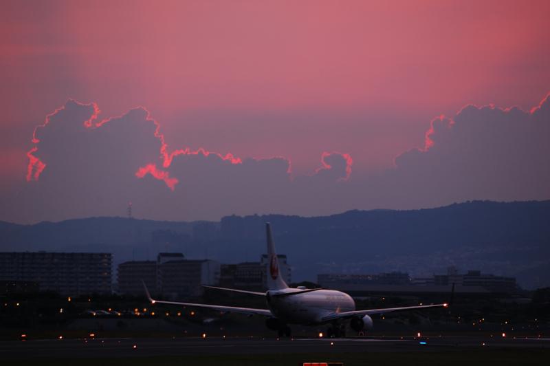 夏の雲、夏の夕暮れ