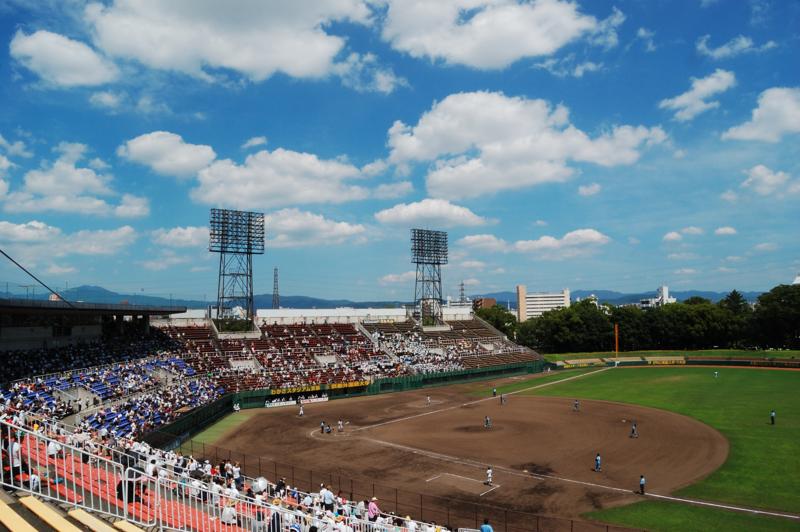 京都新聞写真コンテスト わかさ球場の空