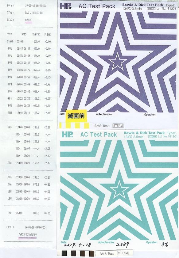Bowie & Dick Test /EN ISO 11140-1 type2