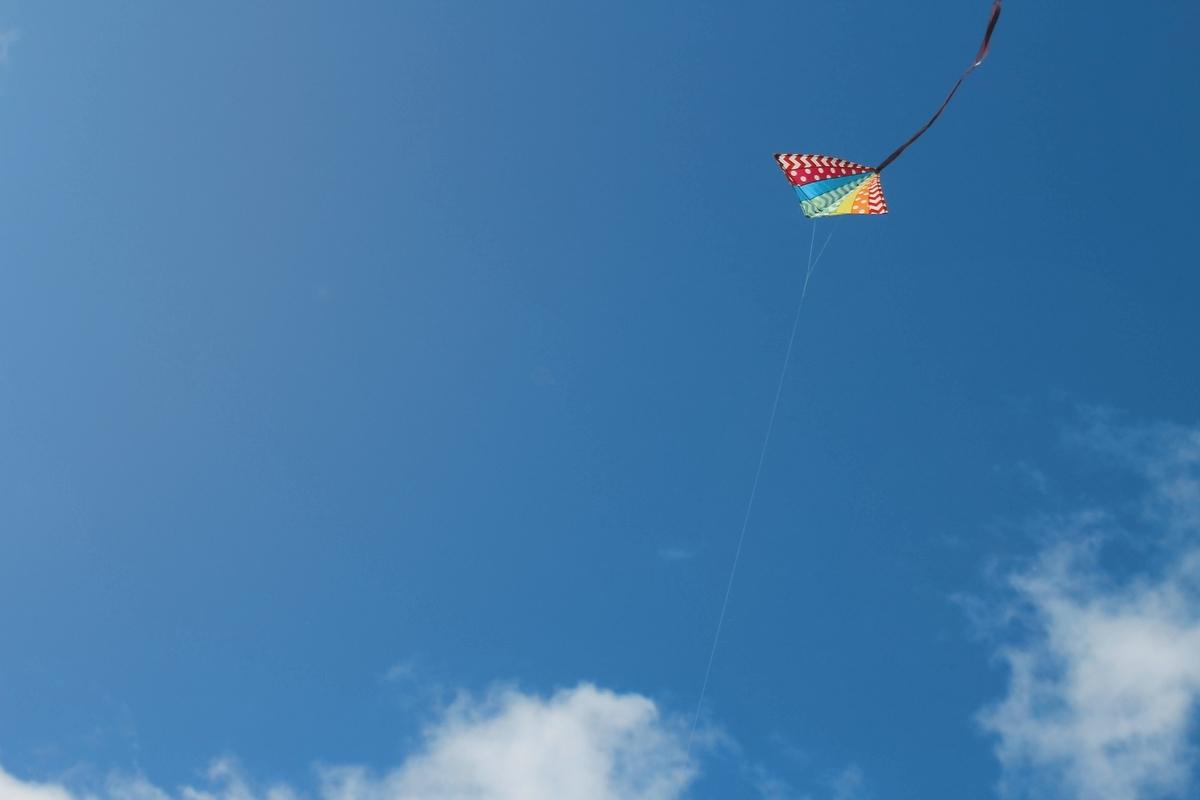 カイトが空を飛んでいる