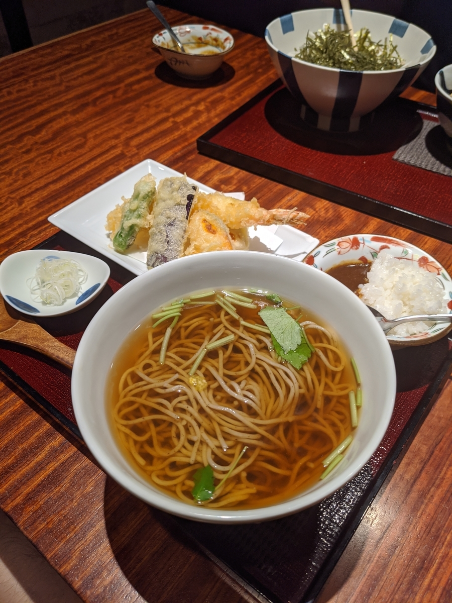 天ぷらかけ蕎麦(1300円)