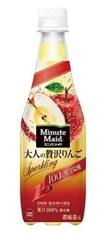 コカ・コーラ ミニッツメイド 大人の贅沢りんご 100% 果汁炭酸 410ml PET×24本