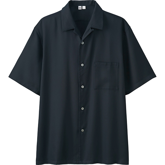 Uniqlo U【ユニクロユー】 MEN オープンカラーシャツ(半袖)