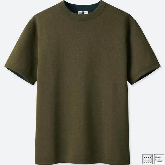 ユニクロU トップス コットンクルーネックセーター(半袖)+E