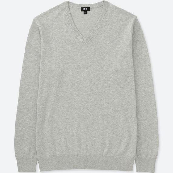 ウォッシャブルVネックセーター(長袖) ビジネスカジュアル トップス