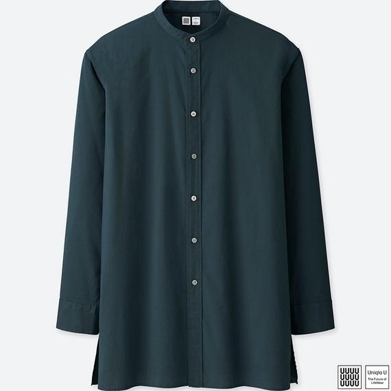 ユニクロU  トップス スタンドカラーシャツ