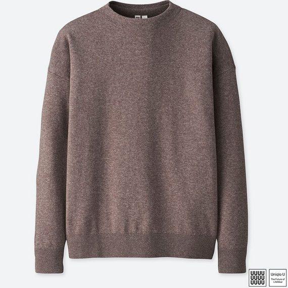 コットンモックネックセーター(長袖) ユニクロU