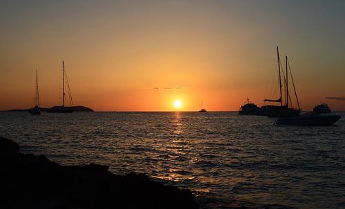 イビサ島の夕暮れ