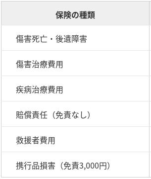 海外保険項目のイメージ