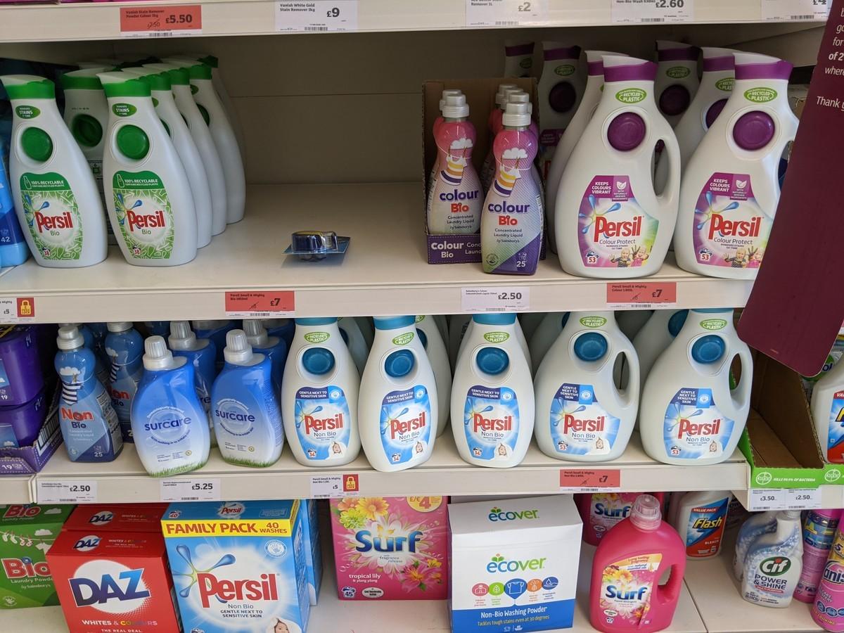 イギリス洗剤のイメージ