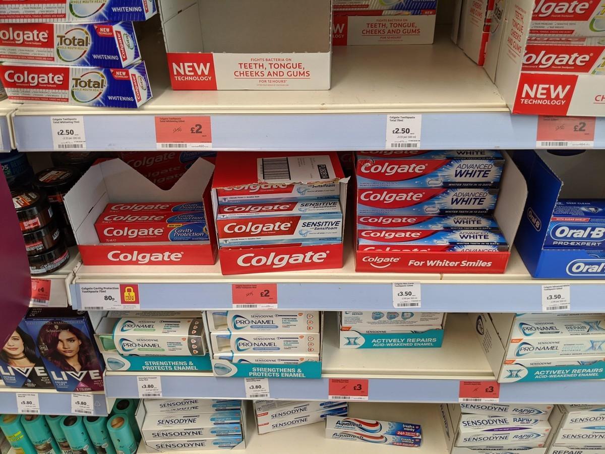 イギリス歯磨き粉のイメージ