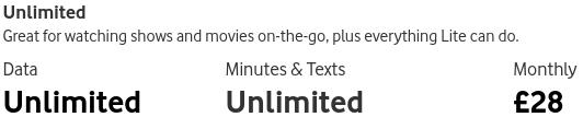 VodafoneのSIM料金のイメージ