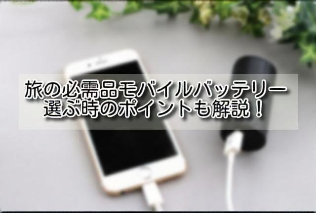 海外旅行モバイルバッテリーのイメージ