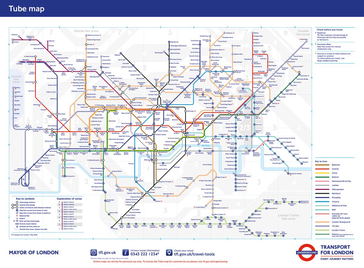 ロンドンの地下鉄のイメージ