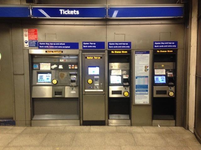 ロンドン地下鉄チケットのイメージ