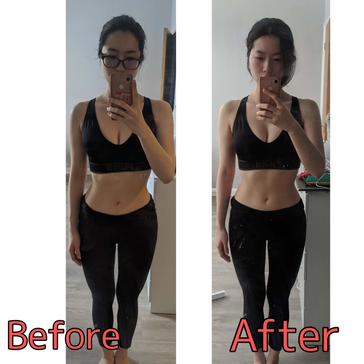 ダイエット前後のイメージ