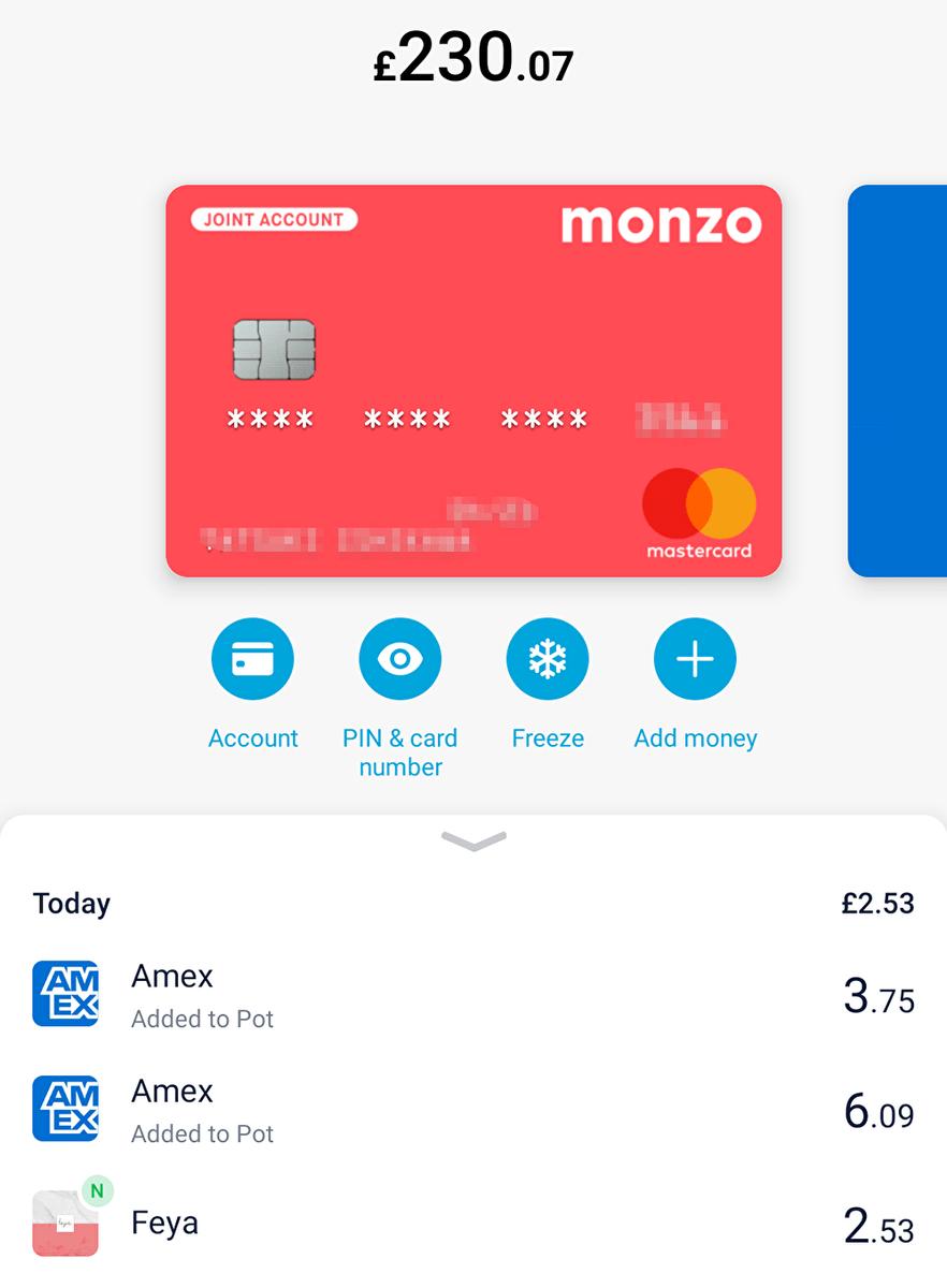 Monzo(モンゾー)アプリのイメージ