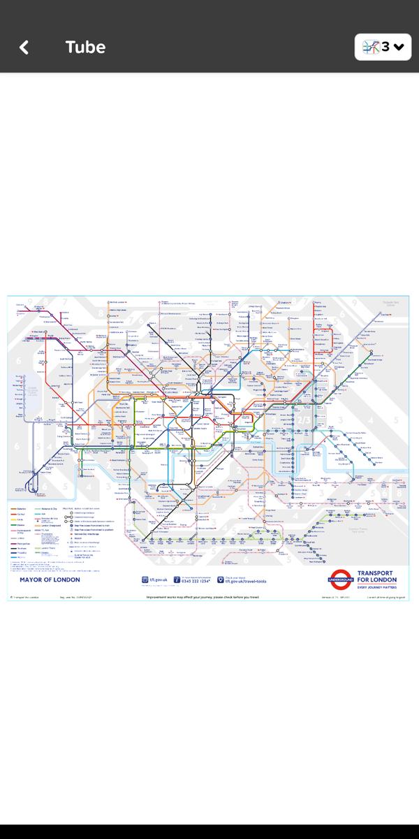 ロンドン路線図のイメージ