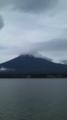 下山後に宿泊したロッジから見た富士山