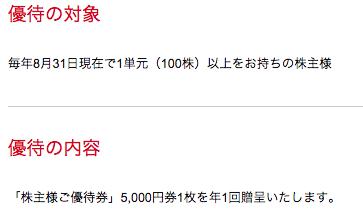 JINS株主優待クーポンカード