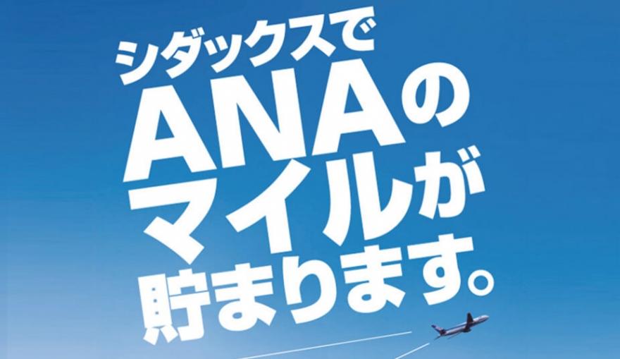 【ANA限定】シダックス「100円1マイル」特典