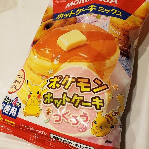 森永ホットケーキミックスのピカチュウパッケージ