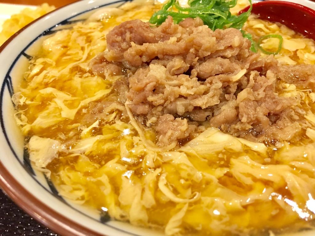丸亀製麺 肉あんかけうどん