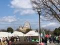 前日エントリーでぎわっている姫路城
