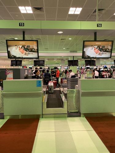 シドニー空港・シンガポール航空ファーストクラスチェックインカウンター