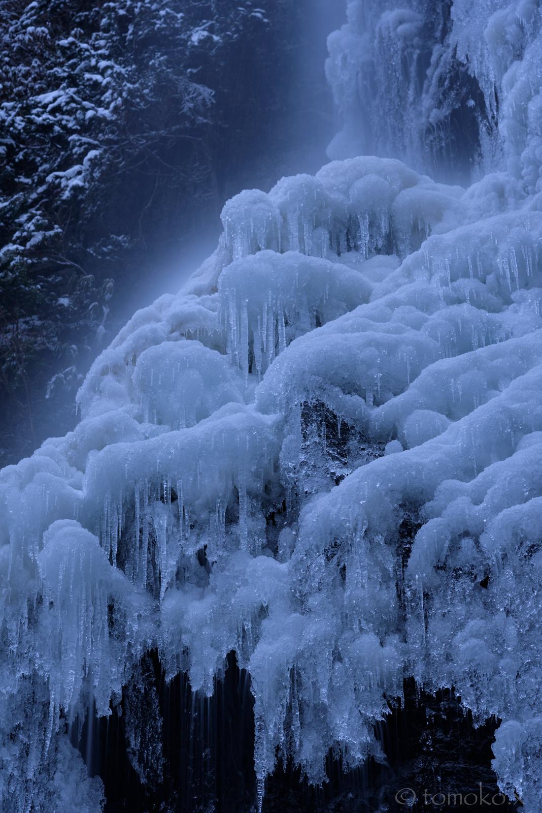 氷瀑になった御船の滝