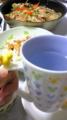 おみやげのマグカップで。
