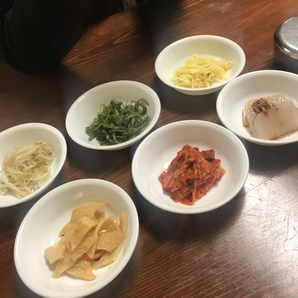 韓国料理の前菜