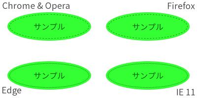 楕円・円のシンプルなツムツム風ボタン
