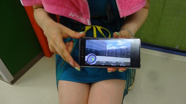 スマートテニスセンサー けい子さんのライブモードビデオ